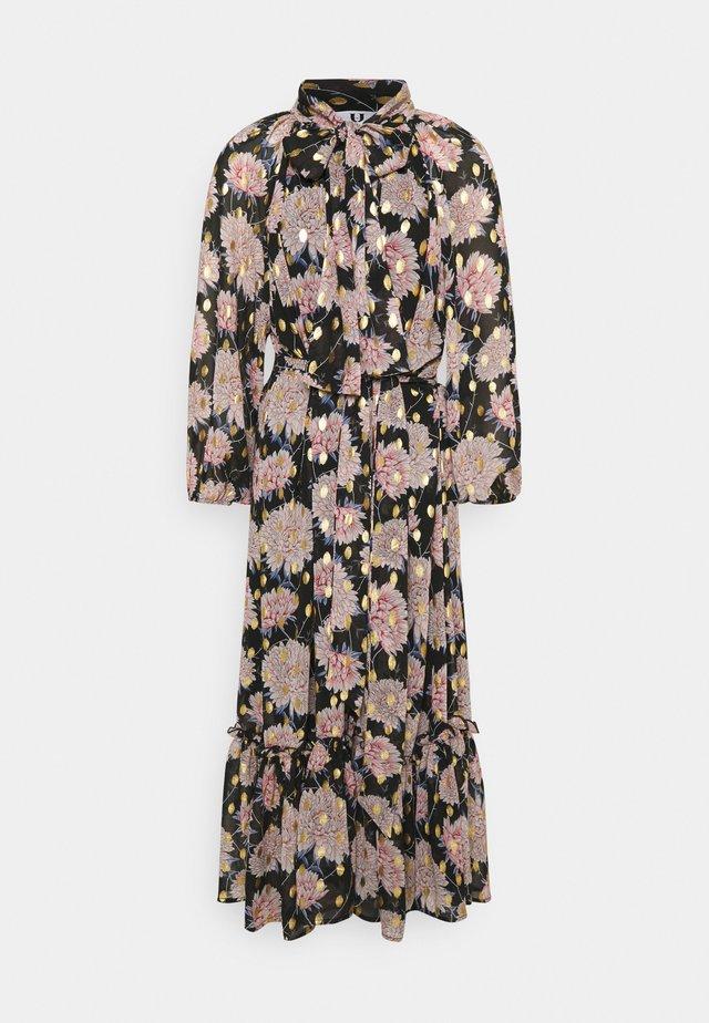Maxi dress - black/pink