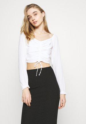 LINE MIDI SKIRT  - Pencil skirt - black