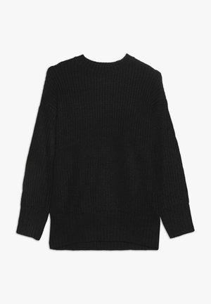LONGLINE CREW NECK JUMPER  - Stickad tröja - black