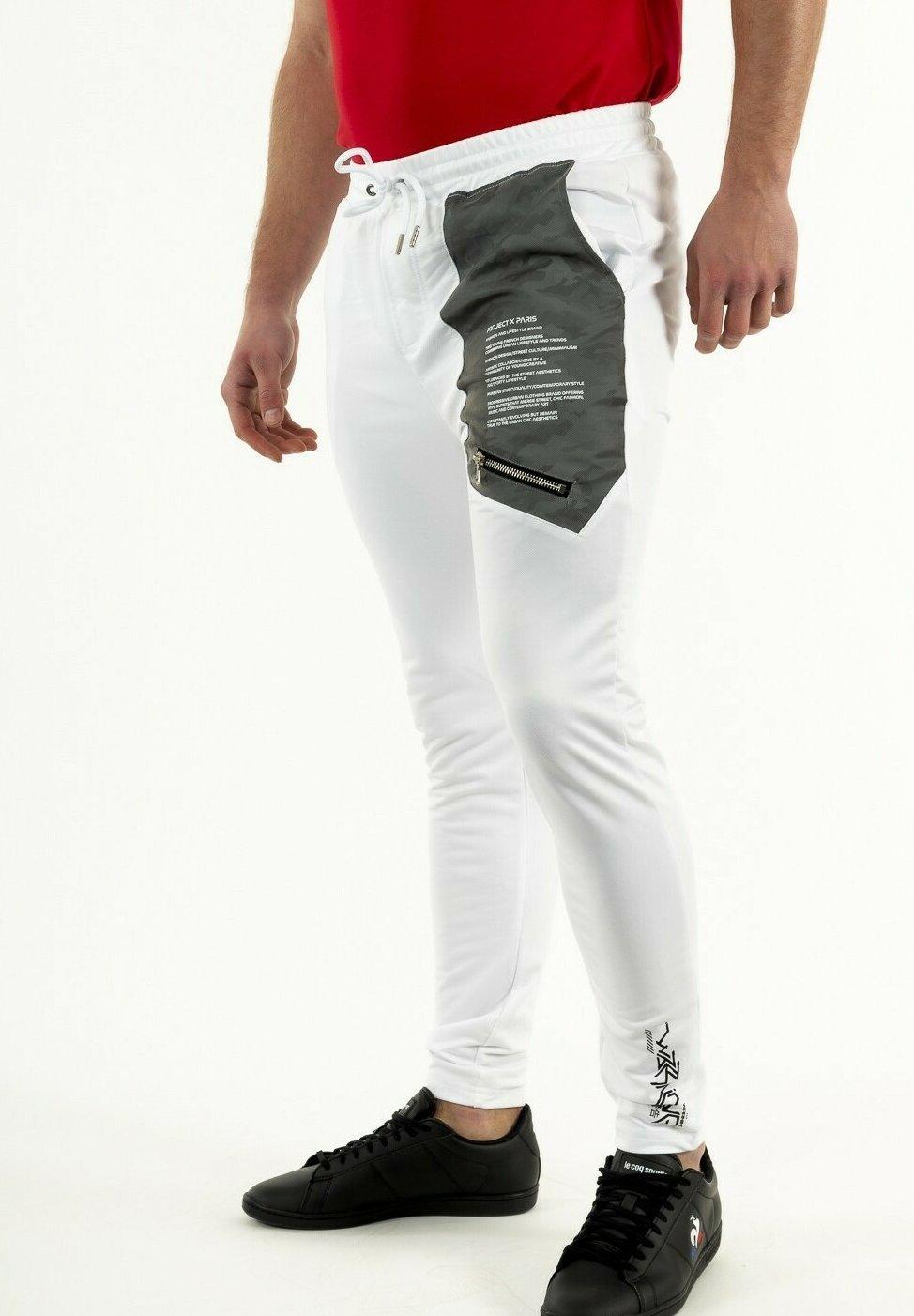 S Bas de Jogging octogones Homme Collection Capsule Gradur Project X Paris Blanc