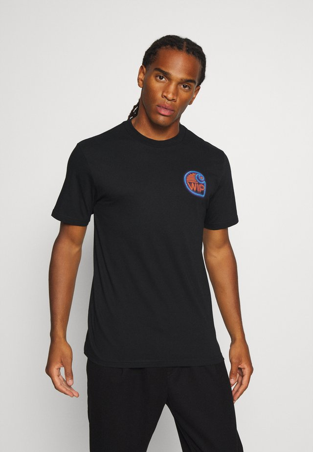 NEON CRAB - T-shirt imprimé - black