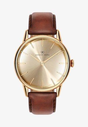 UHR SERENITY SHINE GOLD DARK BROWN LEATHER 32MM - Watch - sunray gold