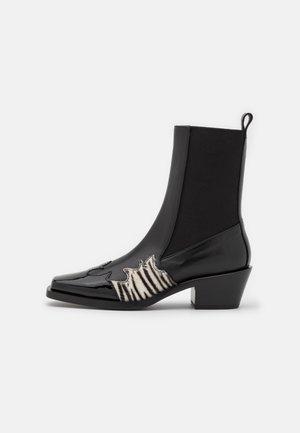 STIVALE BOOT - Cowboy/biker ankle boot - black