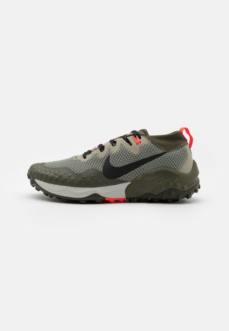 Nike Performance - WILDHORSE 7 - Trail running shoes - light army/black/cargo khaki/bright crimson/sequoia/light bone