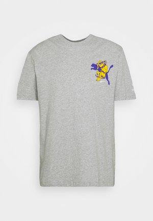 Camiseta estampada - light gray heather