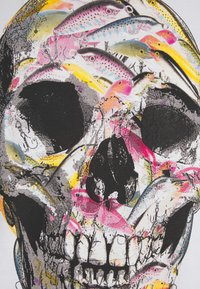 PS Paul Smith - MENS SLIM FIT SKULL - Print T-shirt - white - 2