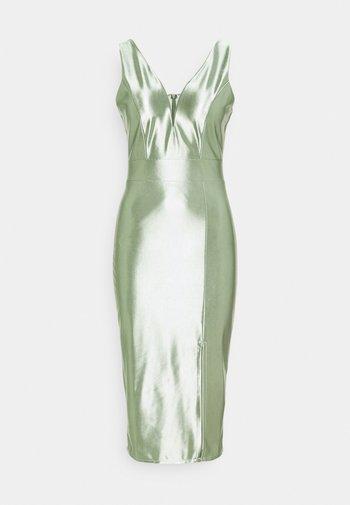 LIBBY V NECK MIDI DRESS - Juhlamekko - mint green