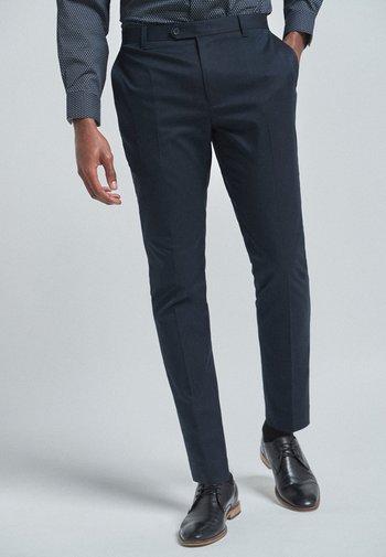 WITH STRETCH - Oblekové kalhoty - blue
