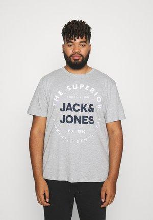 JJHERRO TEE CREW NECK - Print T-shirt - light grey melange