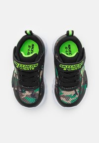 Skechers - FLEX GLOW - Trainers - black/lime - 3