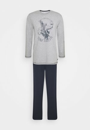 O-NECK - Pyjama set - grey medium melange