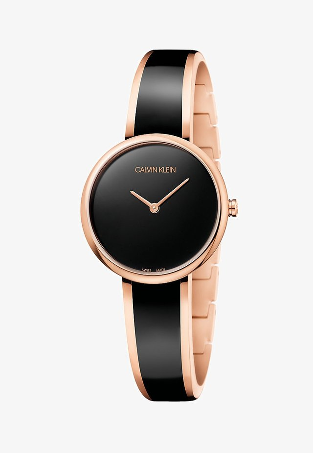 Watch - black/rose gold colored