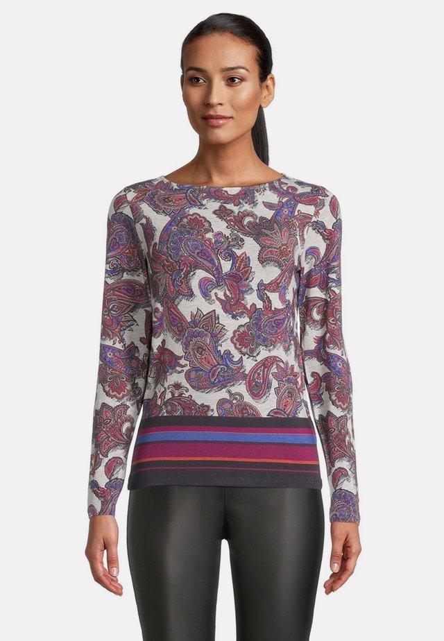 Sweater - dark blue/red