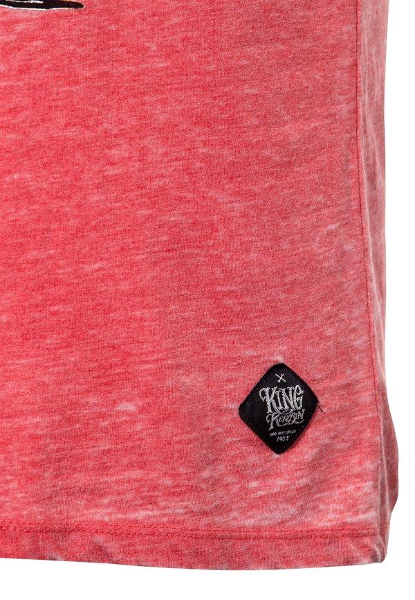 King Kerosin T-shirt z nadrukiem - rot/czerwony Odzież Męska GRKZ
