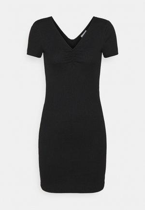 VICARISU SHORT DRESS - Jersey dress - black