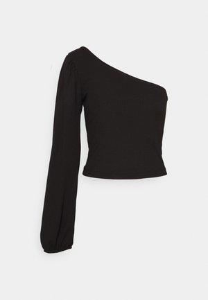 ONE SHOULDER - Bluzka z długim rękawem - black