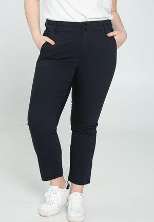 MIT SATIN-EFFEKT - Trousers - marine
