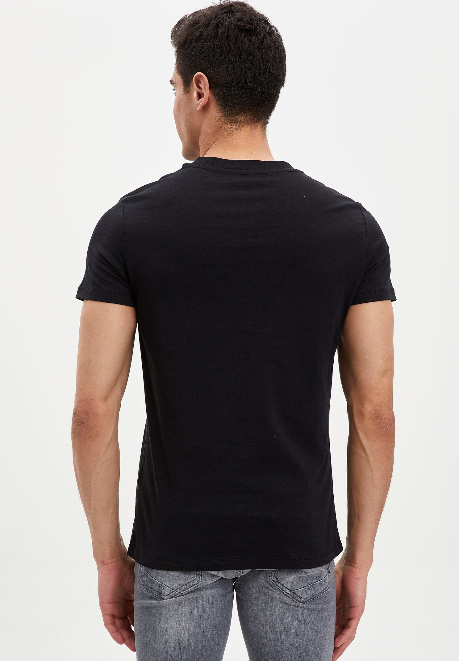 DeFacto Print T-shirt - black BxF3i