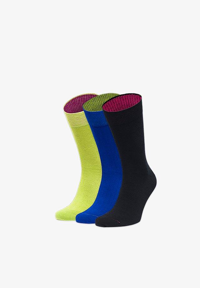 3ER SPLIT - Chaussettes - grün,blau,schwarz
