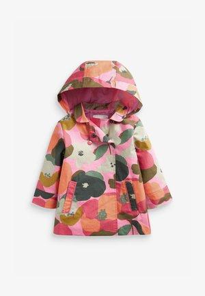 SHOWER RESISTANT FLORAL PRINT - Krátký kabát - pink