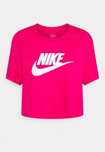 TEE - T-shirt imprimé - fireberry/white