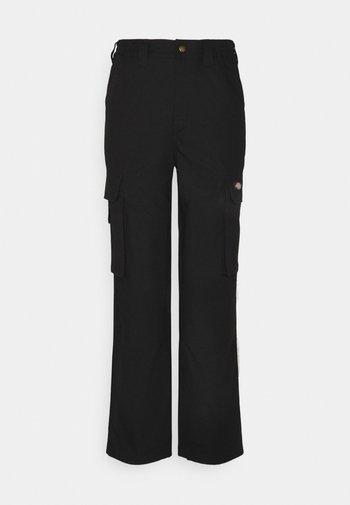 COMBA ELASTICATED - Cargo trousers - black