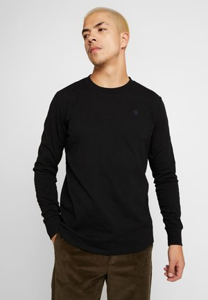 SWANDO LOOSE - Long sleeved top - dk black