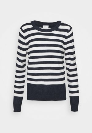VIRIL ONECK - Jumper - navy/white alyssum