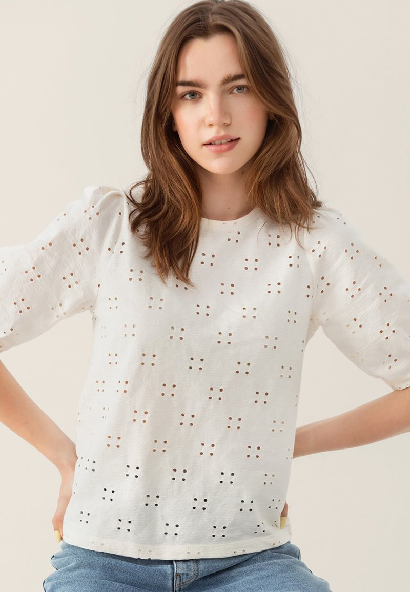 Moss Copenhagen - KARISSA SS - Basic T-shirt - vanilla ice