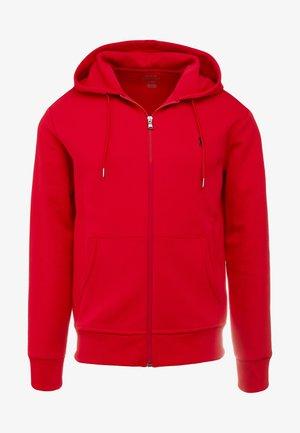 DOUBL FULL ZIP HOODIE - Zip-up sweatshirt - red