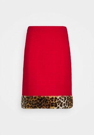 SKIRT - A-line skirt - red