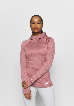 HEAT GRID HOODIE - Hoodie - off red heather