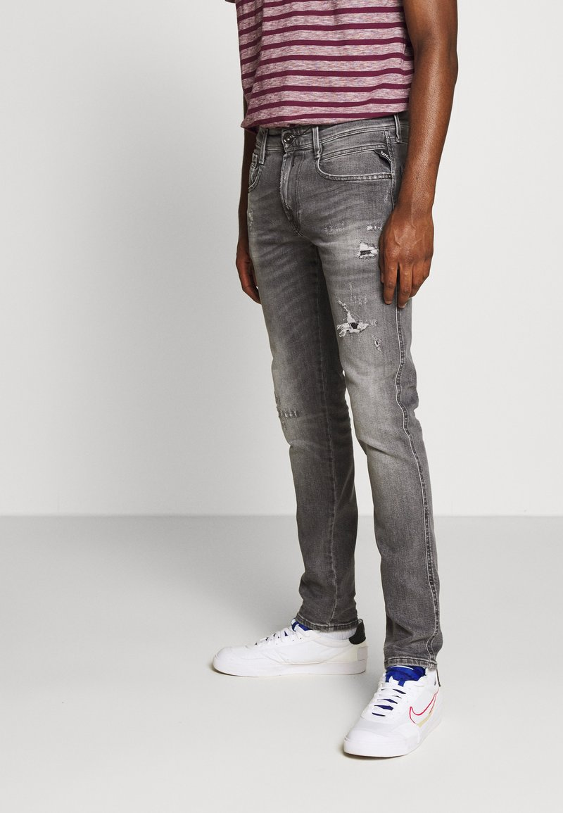 Replay - ANBASS AGED - Jeans Skinny Fit - medium grey
