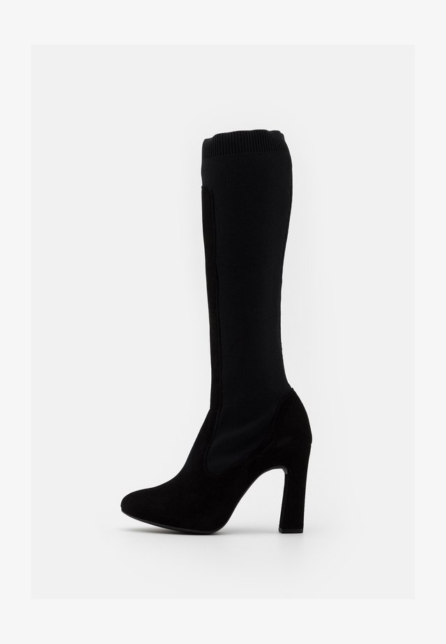 PEDREO - Højhælede støvler - black