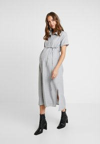 Glamorous Bloom - SHORT SLEEVE MIDI DRESS WITH BELT - Shirt dress - grey - 0