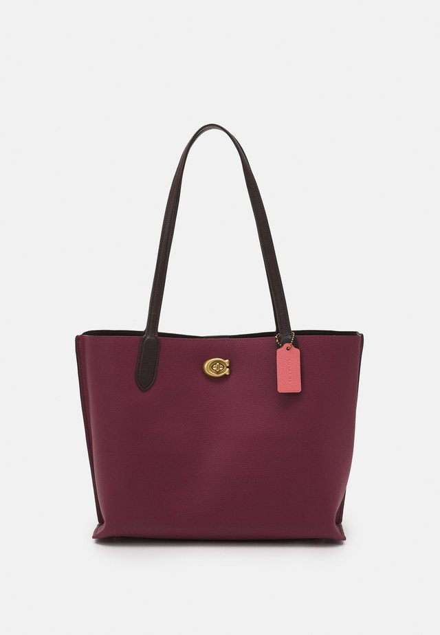 COLORBLOCK WILLOW TOTE - Shopping Bag - black cherry multi