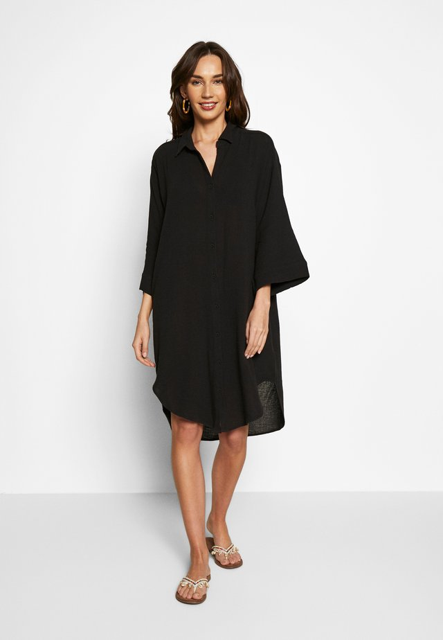 BEACH EDIT OVERSIZE BEACH COVER UP - Strandaccessoire - black