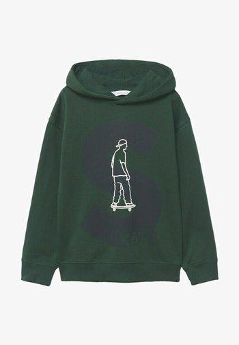 IMPRIMÉ - Hoodie - vert foncé