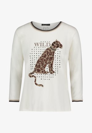 Long sleeved top - weißtaupe