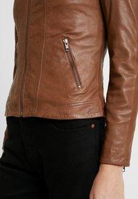 NAF NAF - CLIM - Leather jacket - cognac - 3
