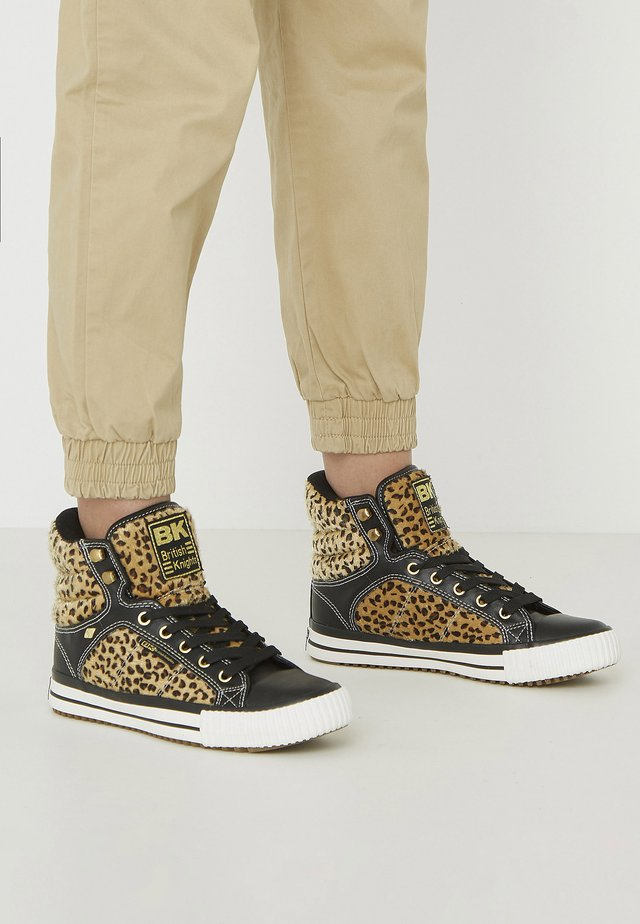 ATOLL - Baskets montantes - leopard/black