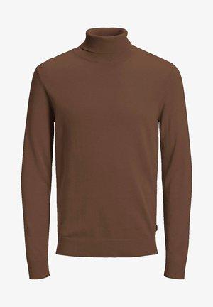 JJEEMIL ROLL NECK - Pullover - chocolate fondant