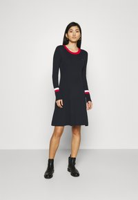 Tommy Hilfiger - WARM FIT & FLARE DRESS - Jumper dress - desert sky - 0