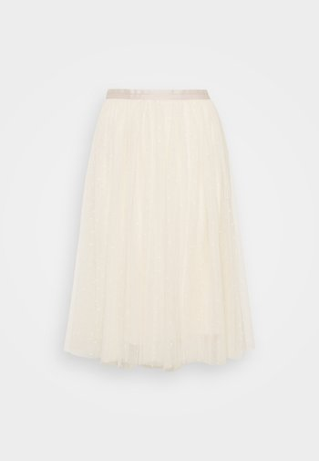 KISSES TULLE MIDI SKIRT EXCLUSIVE - A-line skirt - champagne