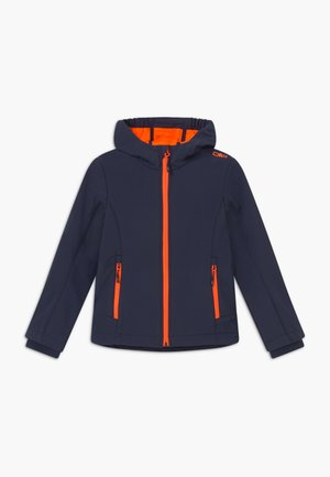 GIRL FIX HOOD - Chaqueta softshell - blue/orange