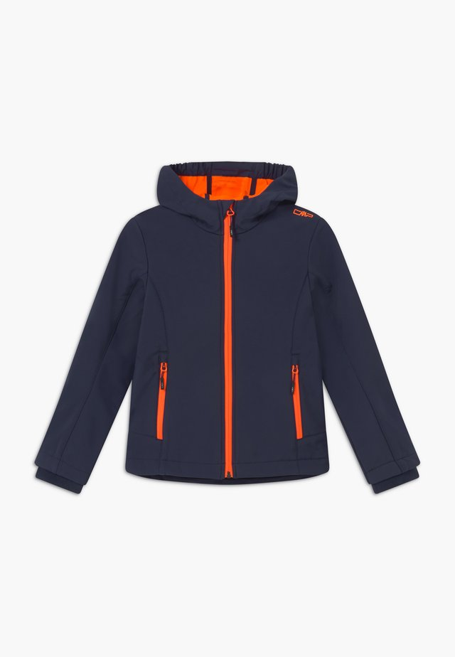 GIRL FIX HOOD - Softshellová bunda - blue/orange