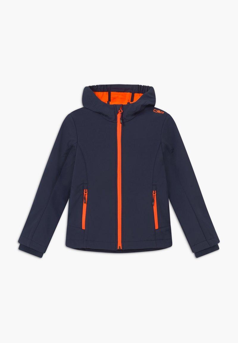 CMP - GIRL FIX HOOD - Softshellová bunda - blue/orange