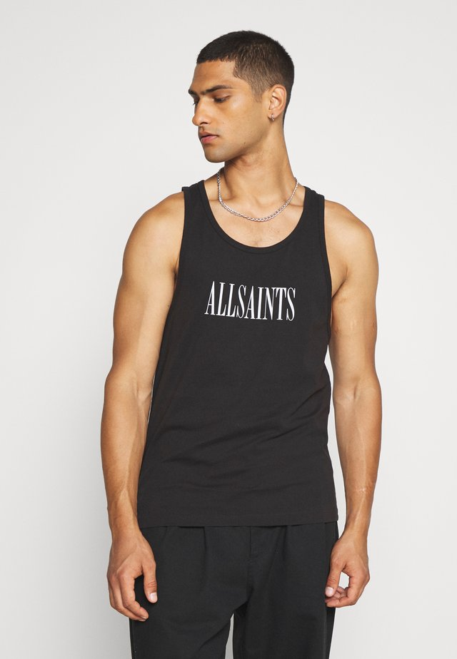 STAMP VEST - Top - washed black