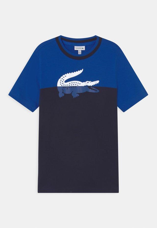 LOGO BLOCK  - T-shirt con stampa - lazuli/navy blue