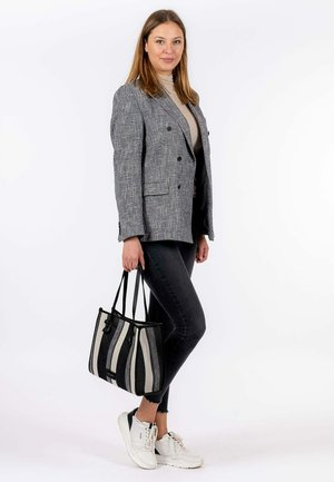 Handbag - black-stripes